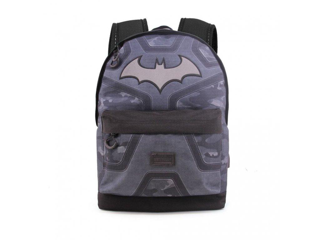 Batoh DC Comics|Batman: Logo (objem 25,2 litrů|30 x 42 x 20 cm) šedý polyester