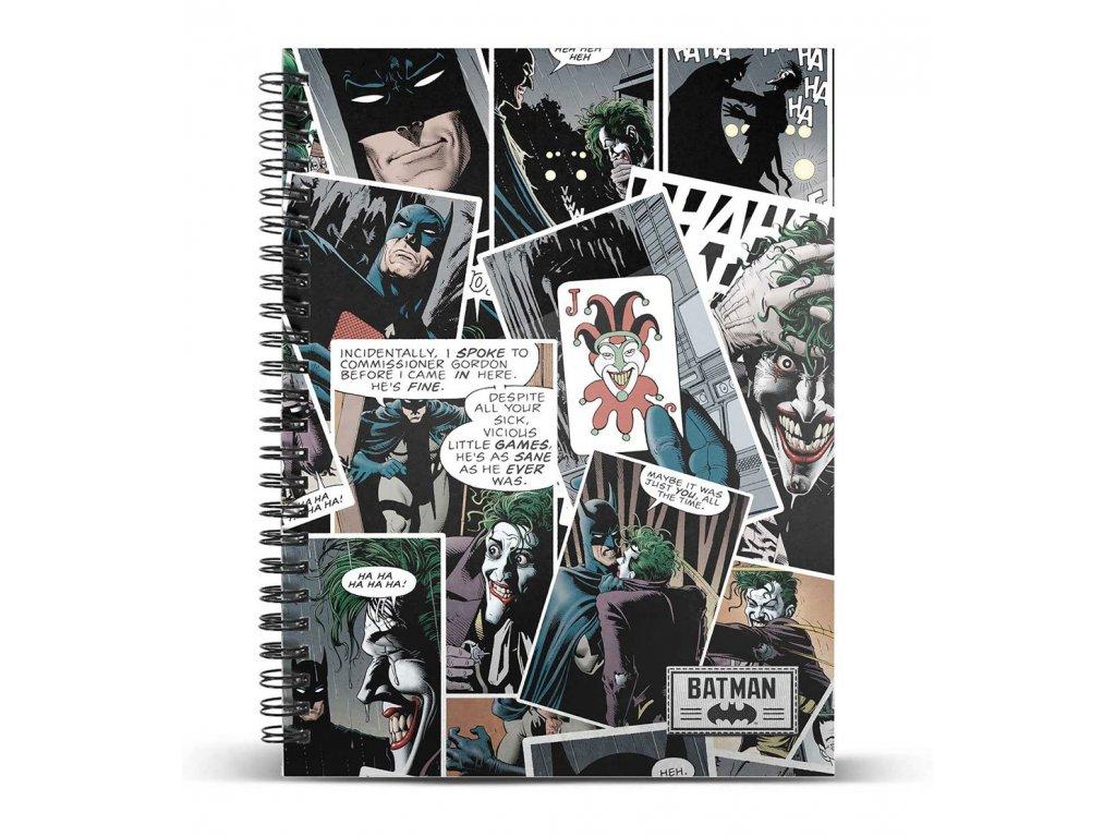 Blok A4 DC Comics|Batman: Joker Comic (21 x 29,7 cm) 120 listů