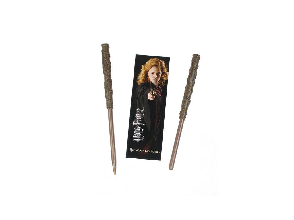 Inkoustová propiska Harry Potter: Hermionina hůlka se záložkou (délka 16 cm)