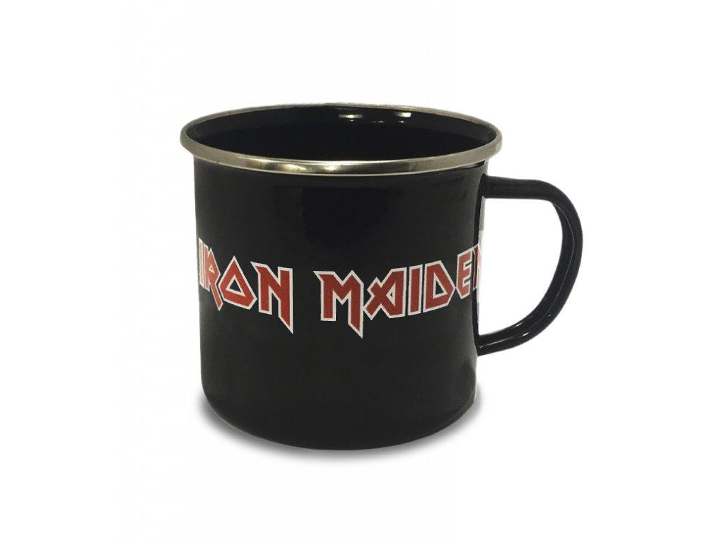 Smaltovaný hrnek Iron Maiden: Logo (objem 450 ml)