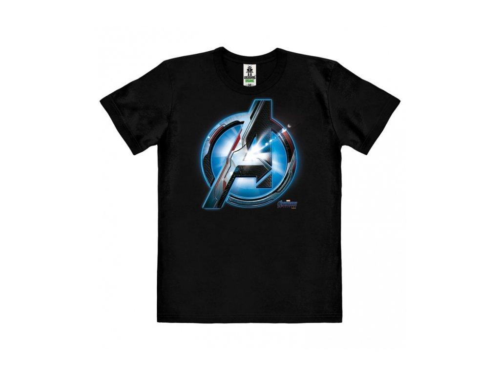 Pánské tričko Marvel Avengers: Endgame logo  černé bavlna