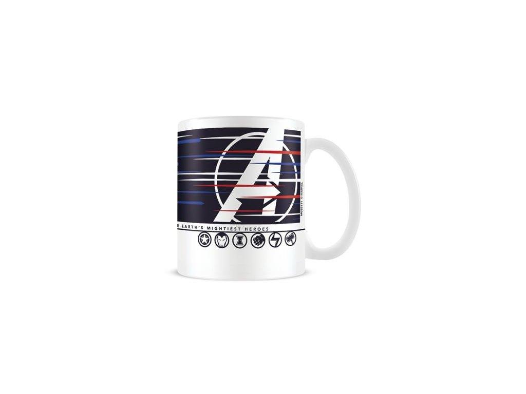 Keramický hrnek Avengers PC hra: Lines (objem 315 ml) bílý