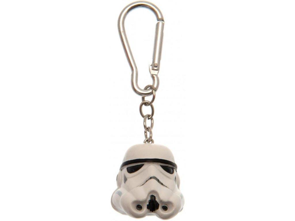 Přívěsek na klíče Star Wars|Hvězdné války: Stormtrooper (4 x 4 cm)