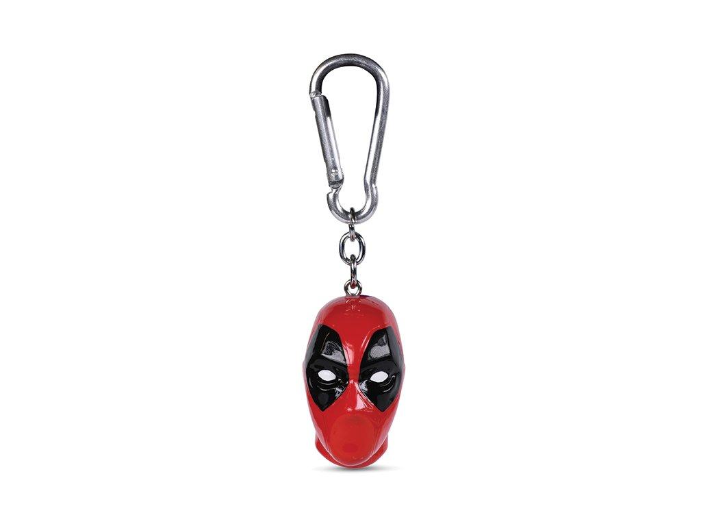 Přívěsek na klíče Deadpool: Head (4 x 4 cm)