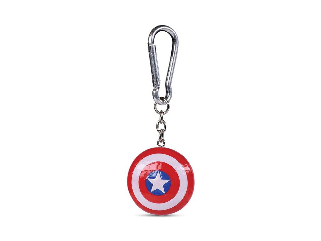 Přívěsek na klíče Captain America Kapitán Amerika: Štít (4 x 4 cm)