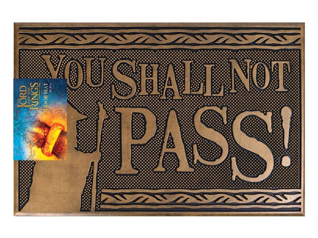 Gumová rohožka The Lord Of The Rings Pán prstenů: You Shall Not Pass (60 x 40 cm) hnědá