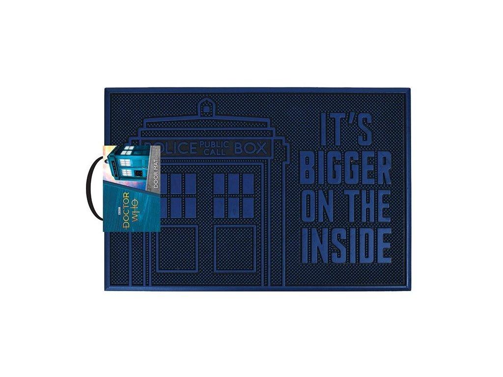 Gumová rohožka Doctor Who Pán času: Tardis (60 x 40 cm) modrá