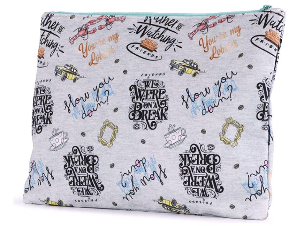 Školní penál na psací potřeby Friends|Přátelé: Texty (21 x 8 cm)