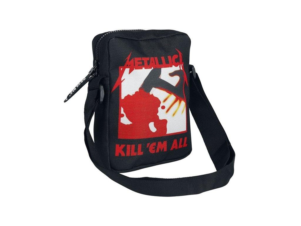 Taška na rameno Metallica: Kill Em All (16 x 20 x 5 cm) černá