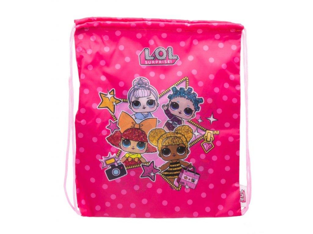 Pytlík gym bag L.O.L. Surprise: Stars (33 x 40 cm) růžový polyester