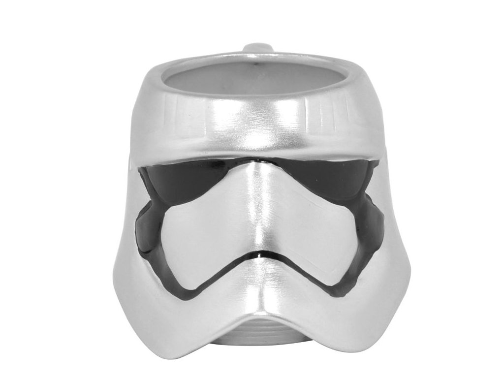 Keramický hrnek Star Wars|Hvězdné války: Kapitán Phasma 3D (objem 400 ml) stříbrný