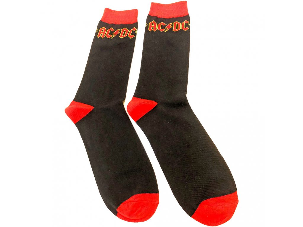 Pánské ponožky AC/DC: Classic Logo (velikost UK 7-11|US 40-45) černé