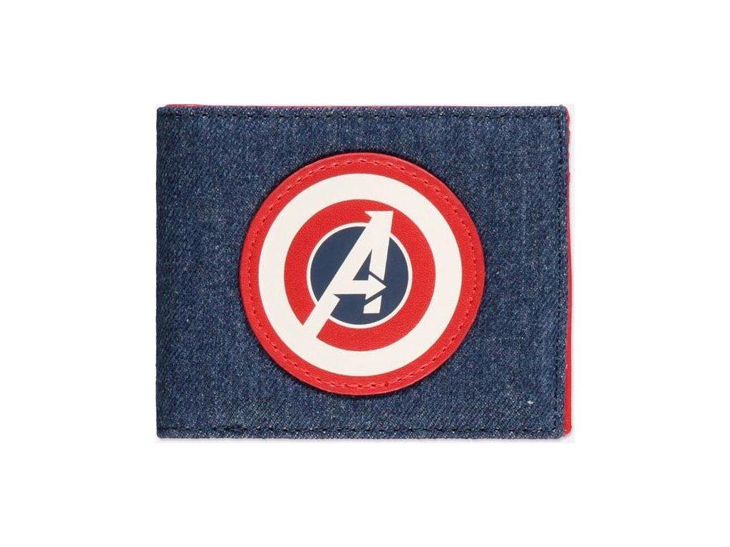 Peněženka Marvel: Avengers Game (11 x 9,5 cm) modrá