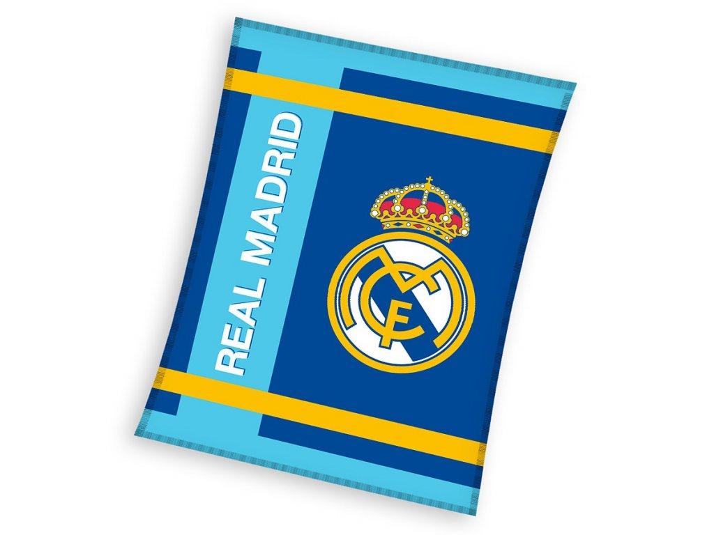 Fleecová deka Real Madrid 18 blue 130x160cm