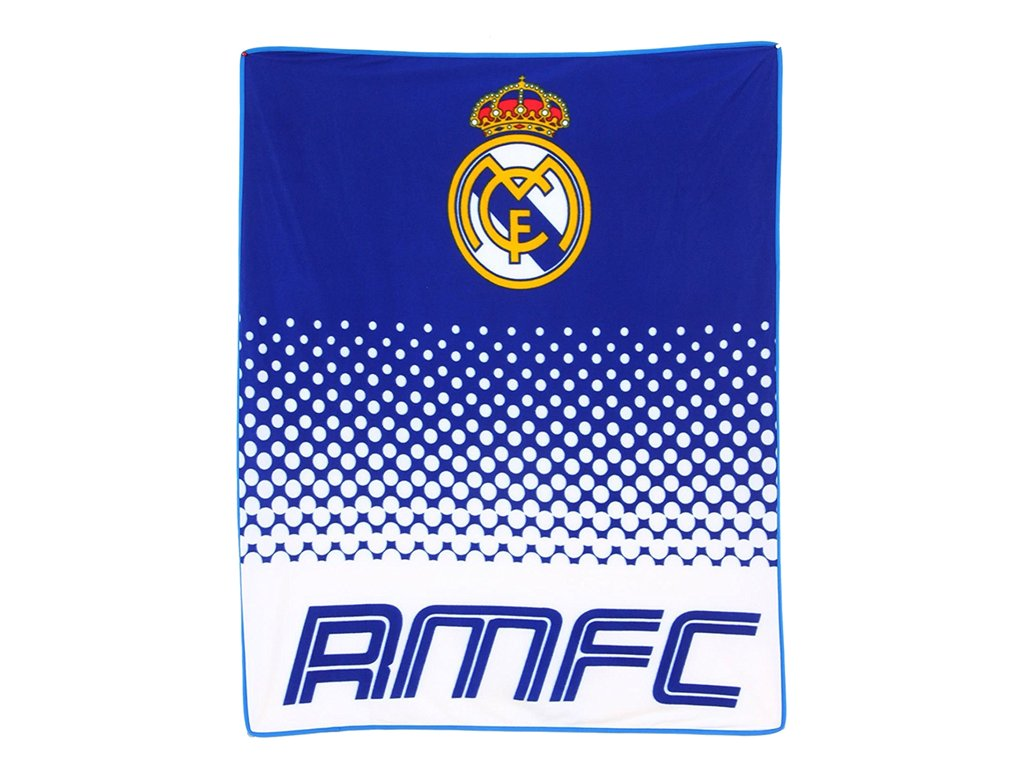 Fleecová deka Real Madrid fade 125x150cm