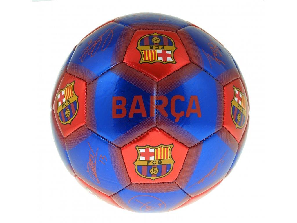 Fotbalový míč FC Barcelona podpisy 19 vel. 5