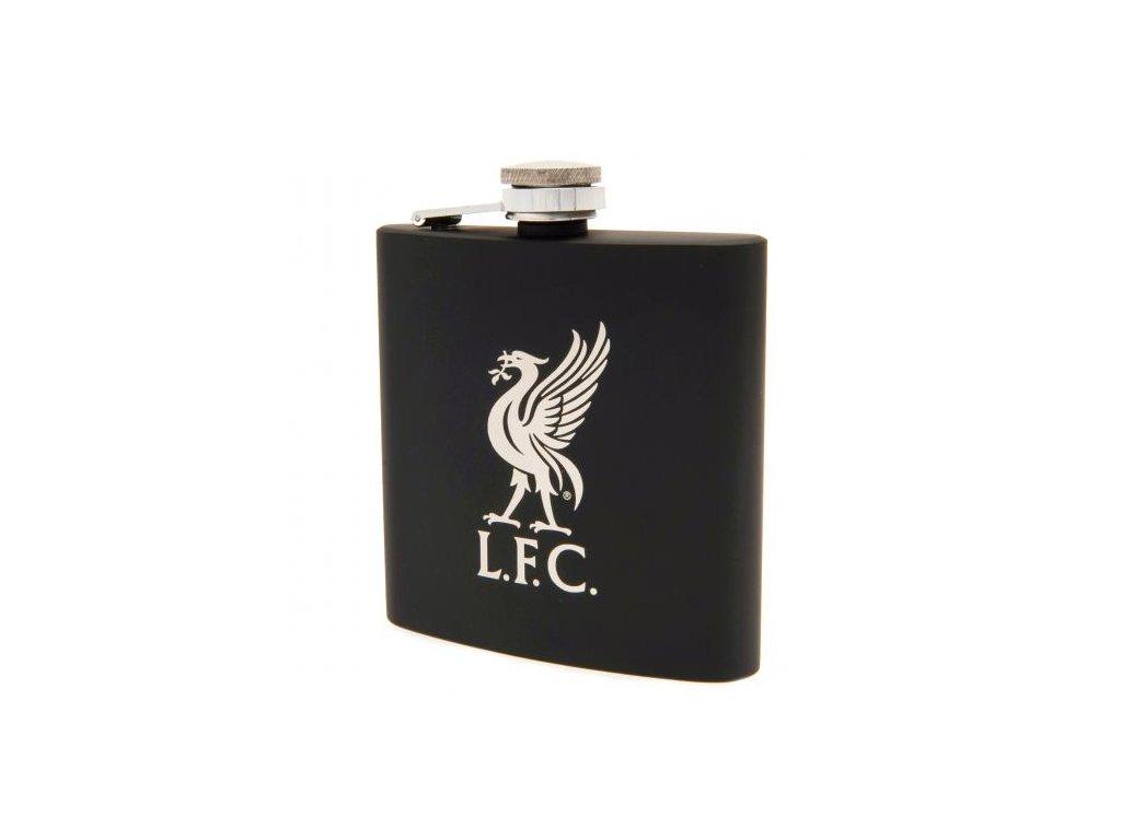 Nerezová placatka Liverpool FC black hard