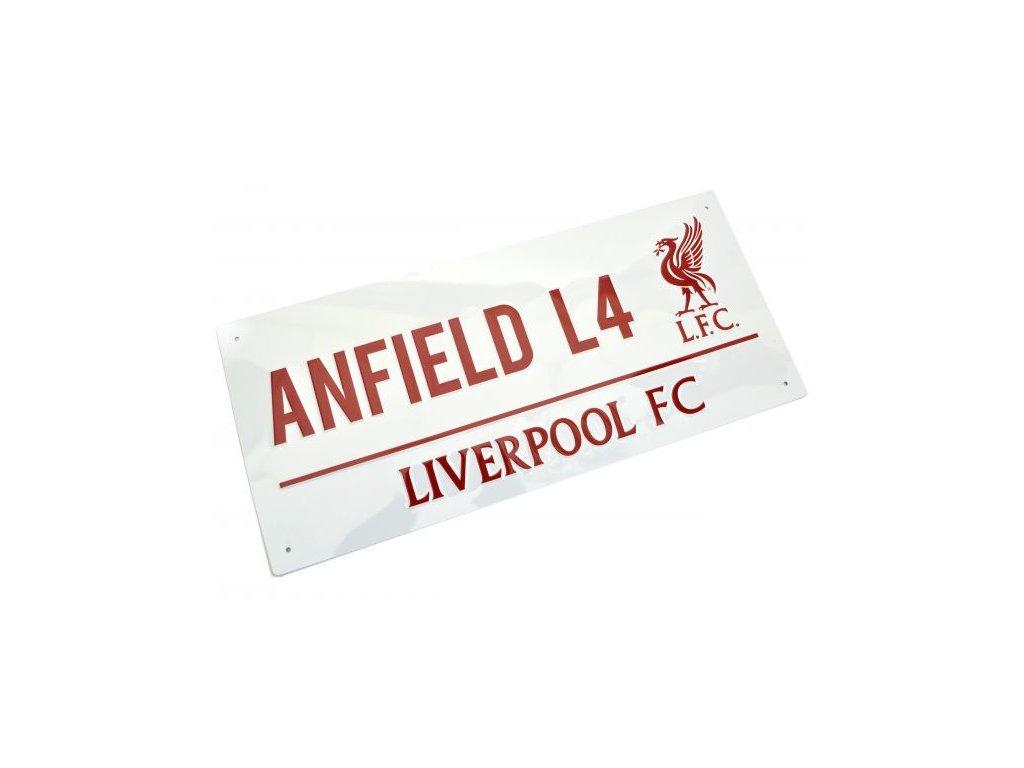 Plechová cedule Liverpool FC Anfield L4