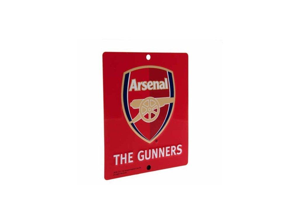 Plechová cedule na okno Arsenal