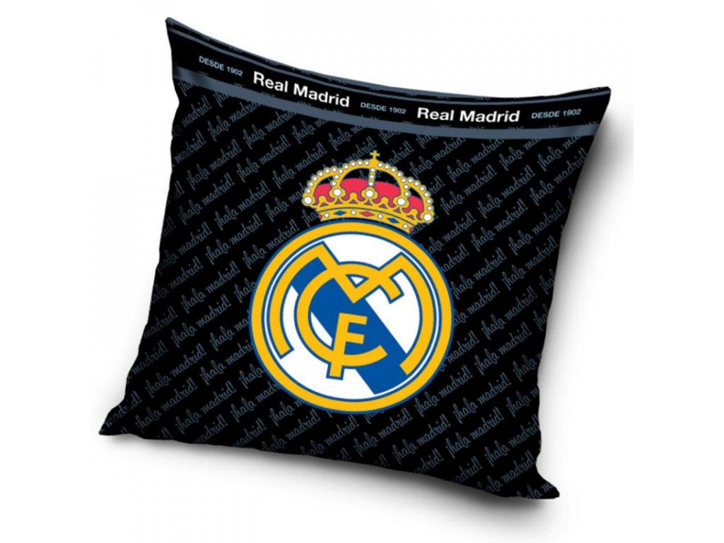 Polštářek Real Madrid 19 black 40x40 cm