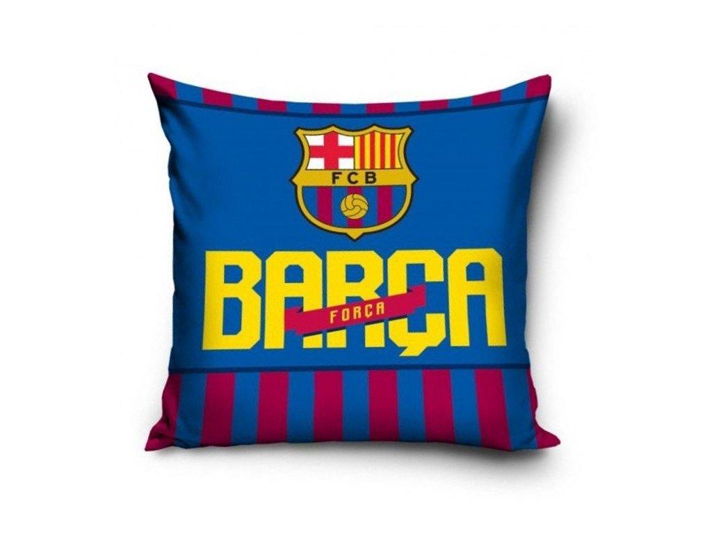 Povlak na polštářek FC Barcelona forca 40x40 cm