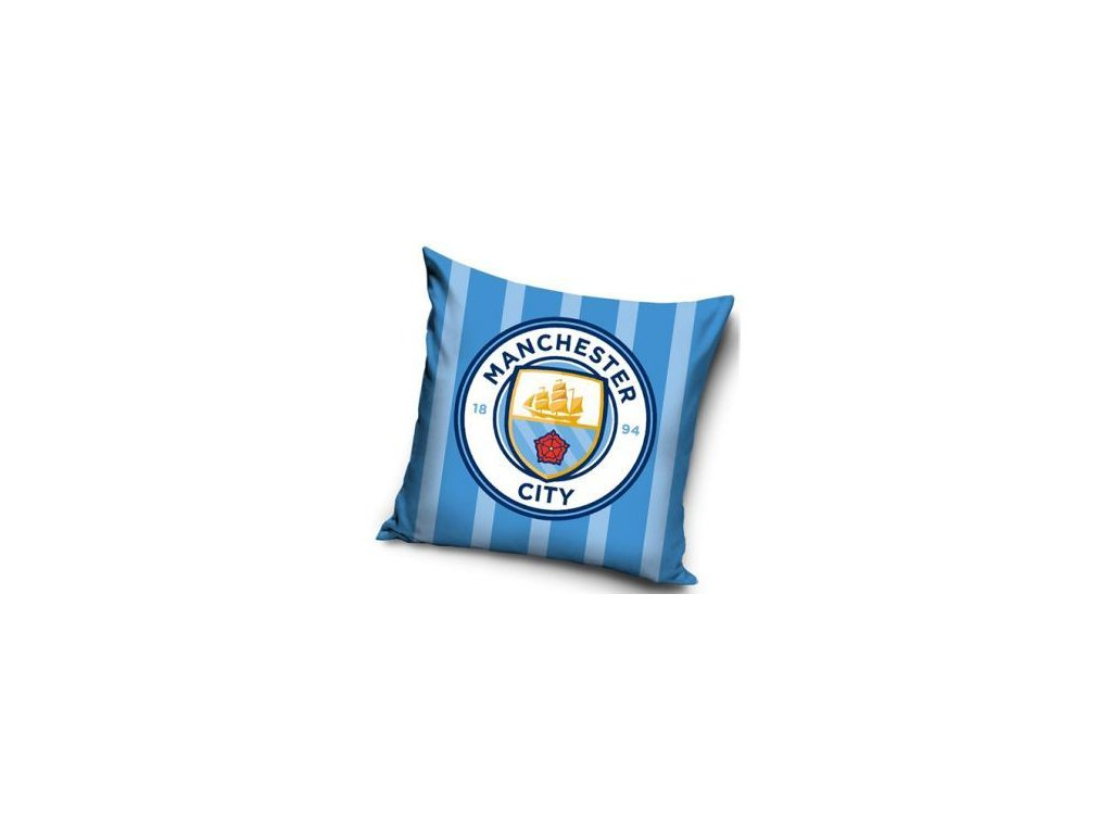 Povlak na polštářek Manchester City 20 stripes 40x40cm