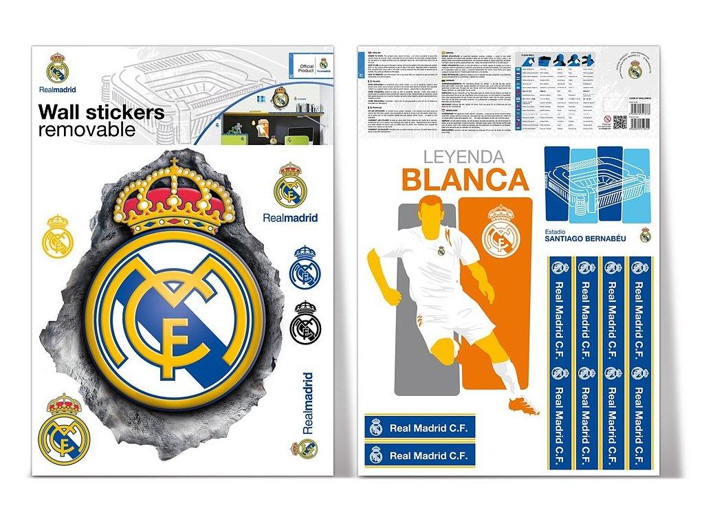 Samolepící dekorace Real Madrid logo 2 archy A3