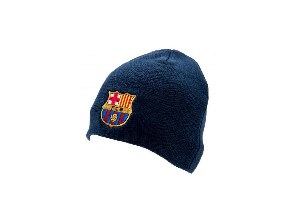 Zimní čepice FC Barcelona modrá klasik
