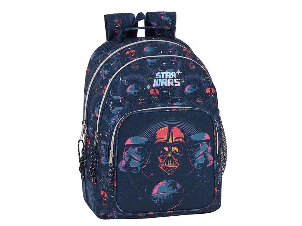 Školní batoh Star Wars|Hvězdné Války: vzor 12001 (objem 20 litrů|32 x 42 x 15 cm) modrý polyester