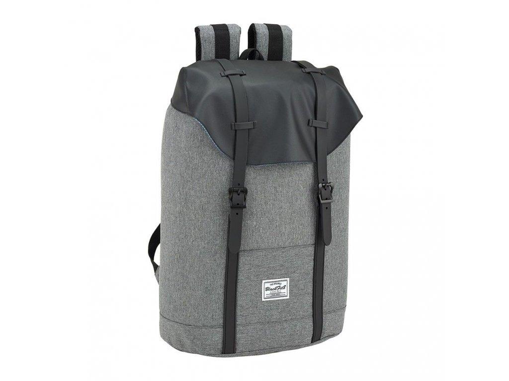Batoh na laptop Blackfit 8: vzor 41832 (objem 20 litrů|42 x 31 x 15 cm) šedý polyester