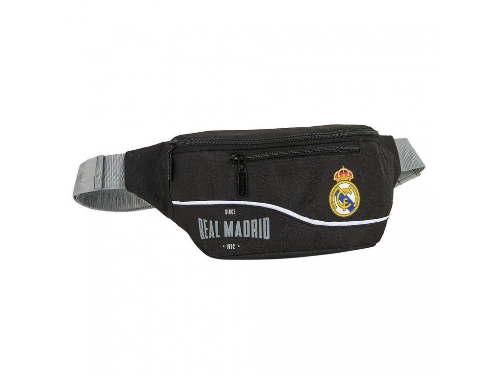 Kapsička kolem pasu - ledvinka FC Real Madrid: vzor 12024 (23 x 9 x 12 cm) černý polyester