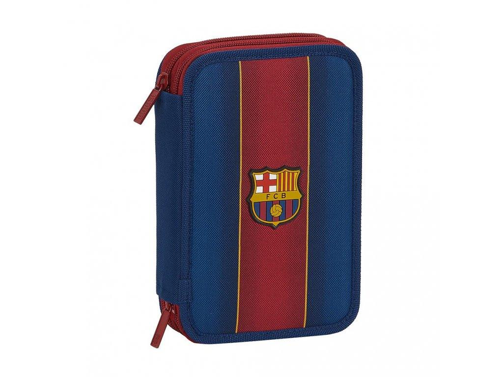 Dvoudílné školní pouzdro FC Barcelona: vzor 12029 Obsah 34 položek (20,5 x 13,5 x 4,5 cm) polyester