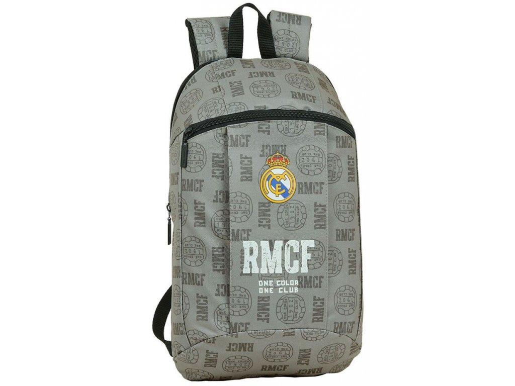 Batoh FC Real Madrid: vzor 42008 (objem 8,5 litrů|22 x 39 x 10 cm) šedý polyester