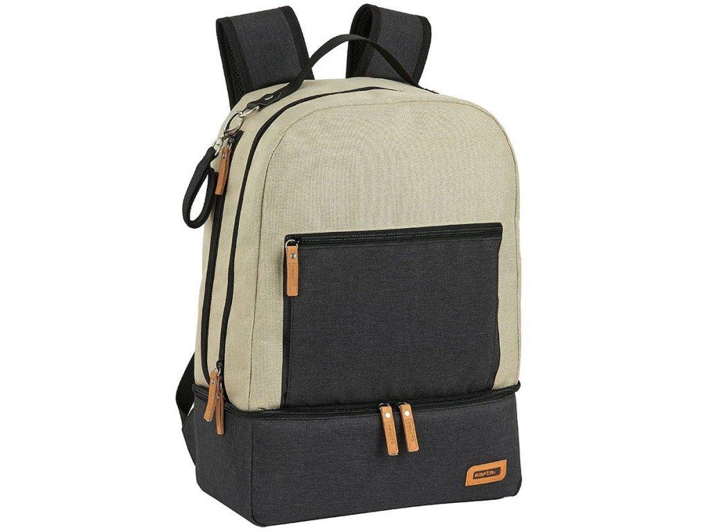 Multifunkční batoh: vzor 42031 (objem 19 litrů|30 x 43 x 15 cm) béžový polyester