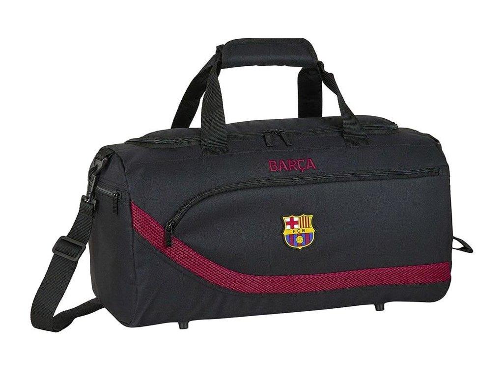 Sportovní taška FC Barcelona: vzor 12027 (objem 31 litrů 50 x 25 x 25 cm) černý polyester
