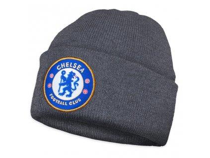 Dětská zimní čepice Chelsea FC knitted grey