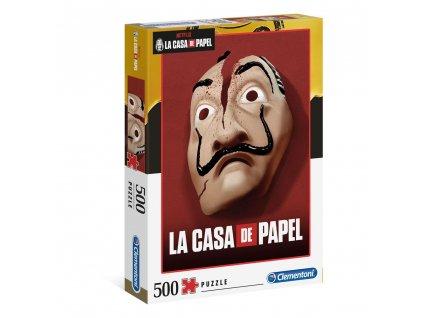 Puzzle La Casa De Papel|Papírový dům: Mask 500 kusů (49 x 36 cm)