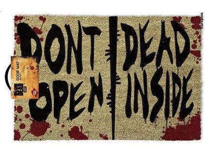 Rohožka The Walking Dead: Don't Open Dead Inside (60 x 40 cm) hnědá