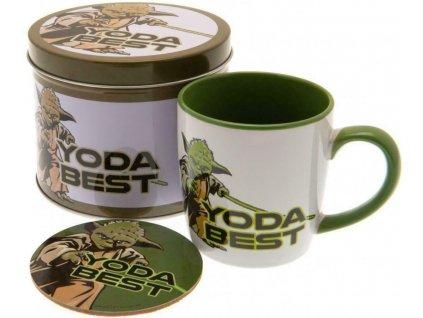 Dárkový set v plechové krabičce Star Wars|Hvězdné války: Yoda Best (objem hrnku 370 ml)