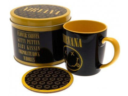 Dárkový set v plechové krabičce Nirvana: Smiley (objem hrnku 370 ml)