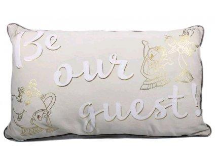 Polštář Disney Beauty And The Beast Kráska a zvíře: Be Our Guest (50 x 30 cm) polyester
