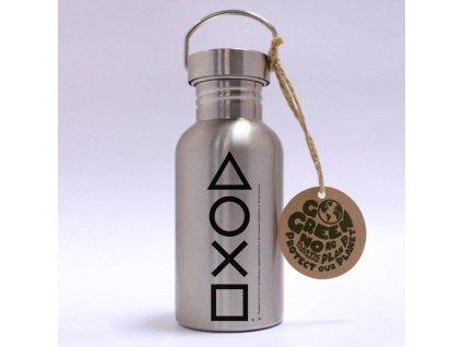 Nerezová EKO láhev na pití Playstation: Buttons (objem 500 ml)