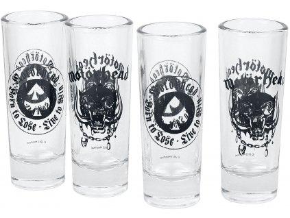 Štamprle sklenice Motörhead: Set 4 kusů (objem 50 ml)