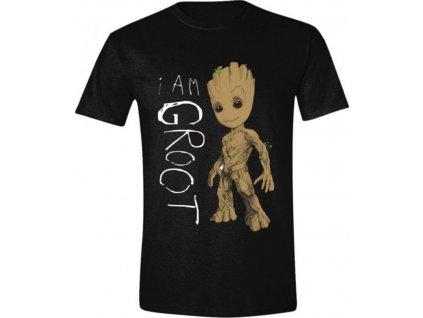 Dámské tričko Guardians Of The Galaxy 2|Strážci Galaxie 2: I Am Groot Scribbles (M) černé