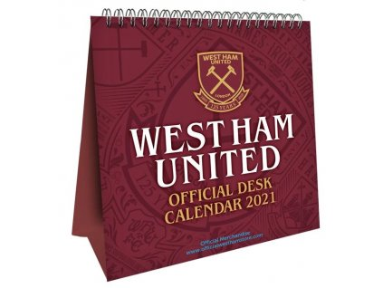 Oficiální stolní kalendář 2021: FC West Ham (16 x 17,5 cm)