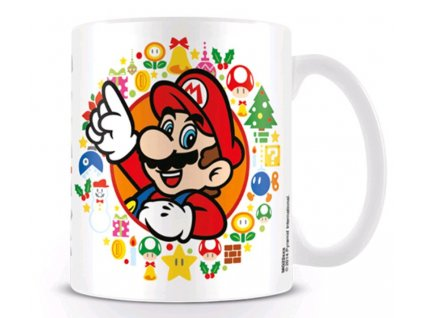 Keramický hrnek Super Mario Odyssey: Happy Holidays (objem 315 ml) bílý