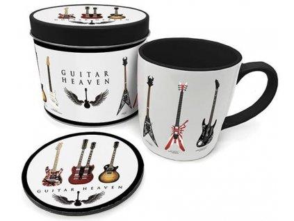 Dárkový set v plechové krabičce Guitar Heaven: Legendary Guitars (objem hrnku 370 ml)