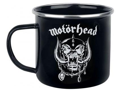 Smaltovaný hrnek Motörhead: Logo (objem 450 ml) černý