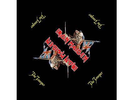 Multifunkční šátek Iron Maiden: The Trooper (55 x 55 cm) černá bavlna