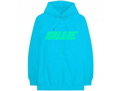 Unisex mikina Billie Eilish: Logo & Blohsh (S) modrá bavlna